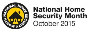 National Home Security Month October 2015 Logo