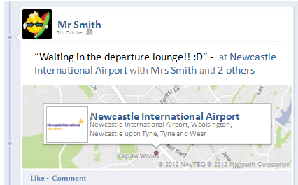 Facebook Status about going on holiday
